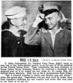 John Lobenhofer Sr. was home on furlough to see his son, John, sworn into the Marines (Photograph)