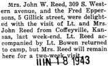 John Reed and his wife came from Coffeyville, Kansas to visit their respective parents in Park...