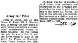 John Reed completed an experimental course in flight training at Randolph Field in Texas (Title...
