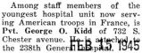 Kidd attached to the 238th General hospital unit in France