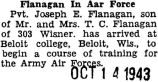 Flanagan in Air Force