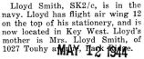 Lloyd Smith was stationed in Key West with the Navy