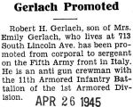 Gerlach Promoted