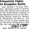 Fitzpatrick Fights at Kwajalien Battle