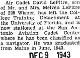 Le Pitre was transferred to the San Antonio Aviation Cadet Center where he was classified as a...