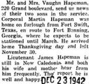 News on the Hapeman brothers