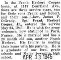 One of three family members to be in the service- Frank stationed in Paris, France