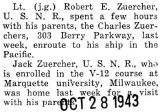 Robert Zuercher spent a few hours with his parents enroute to his ship in the Pacific