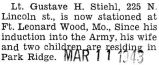 Stiehl was stationed at Fort Leonard Wood in Missouri with the Army