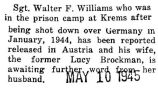Walter Williams was released from the prison camp in Krems to Austria