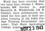 Wienckowski finished the first part of his aviation training at Utah State Agricultural College in...