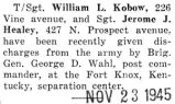 William L. Kobow given his discharge
