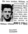 William O'Brien was stationed at Dyersburg Field, Dyersburg, Tennessee -Photograph and Document...