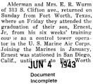 Wurm graduated from a training course with the Marine Air Corps at Fort Worth, Texas (Document...