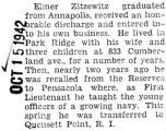 Zitzewitz was transferred to Quensett Point in Rhode Island from Pensacola, Florida
