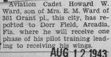 Ward received pilot training at Dorr Field in Arcadia, Florida