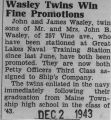 """Wasley Twins Win Fine Promotions"""