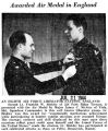 """Awarded Air Medal in England"" (Photograph)"