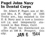 Pagel Joins Navy In Dental Corps