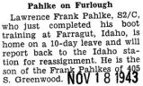 Pahlke on Furlough