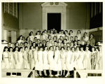 Photograph of the confirmation class at the Park Ridge Community Church taken in 1955