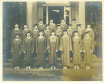 Photograph of young women graduating from the Park Ridge School for Girls