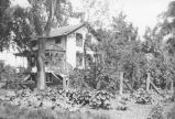 Black and white photograph of house that was the residence of Mayor Hollis