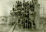 Posed photograph of children at Hinkley Pool taken circa 1929