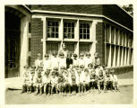 Photograph taken around 1930 of the second grade class at Lincoln School