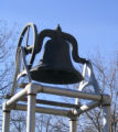 Photograph of a bell at the Park Ridge Youth Campus