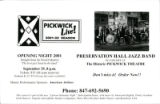 Pickwick Live!  2001-02 season postcard
