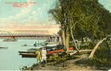 Shady Beach and Upper Free Bridge, Peoria, Ill.