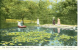 Lily Pond at Glen Oak Park, Peoria, Ill.  Pub. By C. R. Gibson, Peoria, Ill.