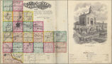 Combination Atlas Map of Will County Illinois 1873