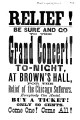 Brown's Hall handbill, 1871