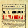 Brown's Hall handbill, 1869