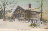 Swiss Cottage in winter