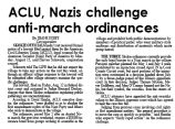 ACLU, Nazis challenge anti-march ordinances