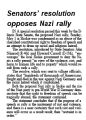 Senators' resolution opposes Nazi rally
