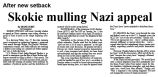 After new setback: Skokie mulling Nazi appeal