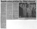 Smith wins praise for Nazi stance
