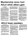 Membership woes hurt ACLU while others gain : ACLU loses members