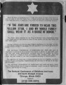 Newspaper Clipping of a message placed by the National Conference of Christians and Jews