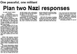 One peaceful, one militant : Plan two Nazi responses