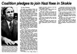 Coalition pledges to join Nazi foes in Skokie