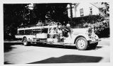 Niles Center (Skokie) Fire Department 1937 Pirsch Ladder Truck Photograph