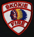Skokie Firefighters Shield-Shaped Patch