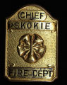 Skokie Fire Department Chief Gold Badge