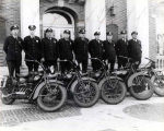 Police Department Motorcycle Group Photograph, circa 1950