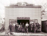 P. Baumhardt Horseshoer & Wagonmaker Building and Group Photograph, circa 1890